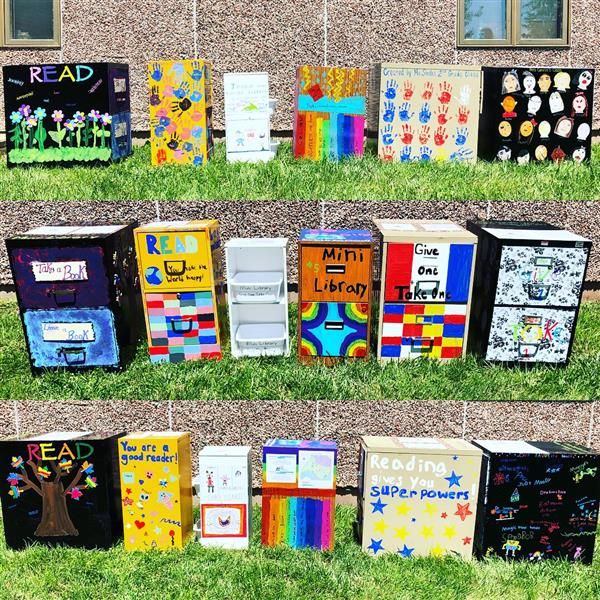 Jennie Dean 2nd Graders Create 6 Mini Libraries for Community Use