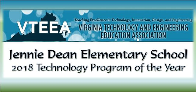 Jennie Dean ES Awarded Elementary Technology Program of the Year