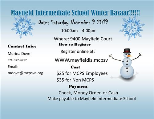 Mayfield Intermediate School Winter Bazaar