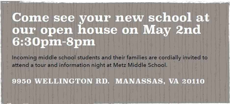 Rising seventh grade open house