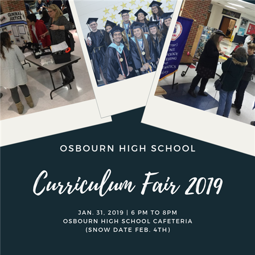 Curriculum Fair 2019 January 31 from 6pm to 8 pm