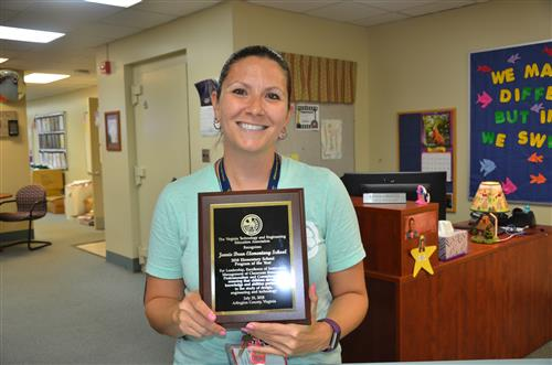 Jennie Dean Awarded Elementary Technology Program of the Year