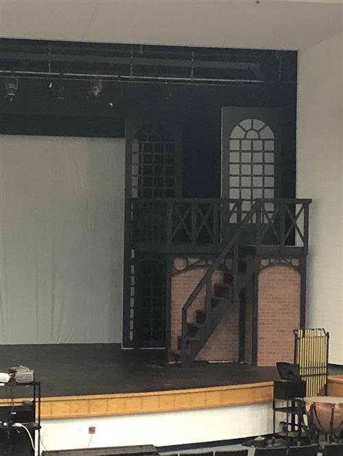 Osbourn High School 'A Christmas Carol' musical set