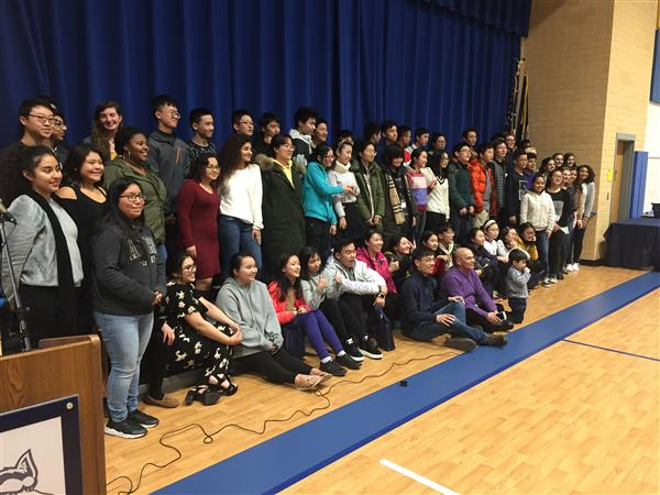 Students from China Visit Osbourn