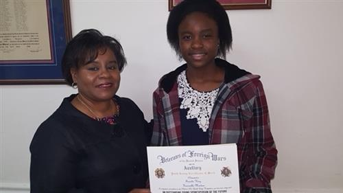 Metz Student Pens Winning Essay in VFW Contest