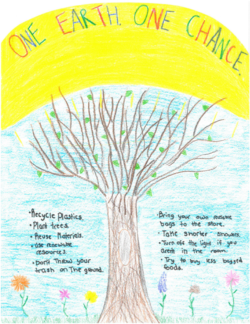 Earth Day Poster Contest Winning Entry