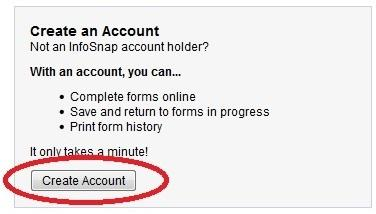 Screenshot of Creating an Account
